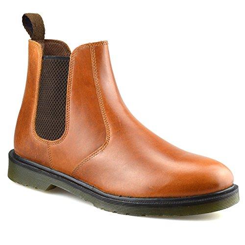 Oaktrak Belper Leather Brogue Chelsea Chestnut Brown Size 8 UK