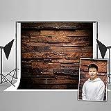 KateHome PHOTOSTUDIOS Fotografie Hintergrund Holz Brett 2,2 x 1,5 m Holz Holzfußboden Foto Hintergrund Kulissen braun Retro Photography Background