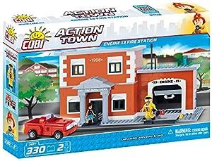 COBI- Action Town-Engine13 Fire Station (330 Pcs) Juguete, Multicolor (COB01477)