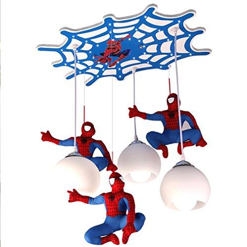 LED kreative Kinder Schlafzimmer Spider-Man Beleuchtung Kronleuchter Schlafzimmer Beleuchtung Cartoon Jungen Schlafzimmer dekorative Beleuchtung Augen LED Lampe Spannung 220V -