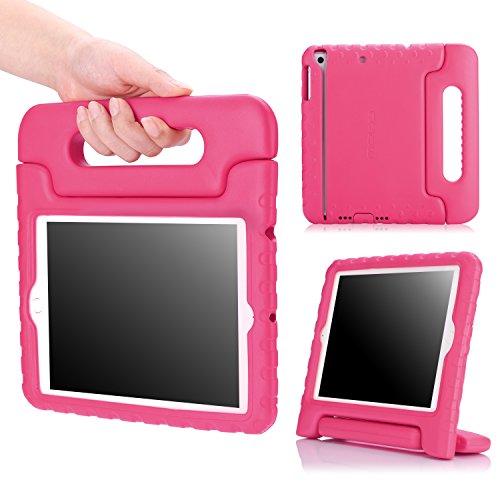 MoKo Hülle für iPad Mini 3 / 2 / 1 - Superleicht EVA Stoßfest Kinderfreundlich Kinder Schutzhülle mit umwandelbarer Handgriff Handle und Standfunktion für Apple iPad Mini 3/2/1, Magenta (Nicht für Mini 4) Ipad 2 3 4 Schaum Fall