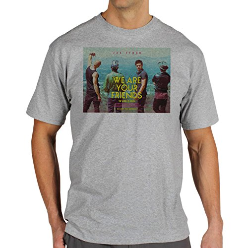 We Are Your Friends Movie Summer WAYF Zack Efron Moving And Looking To A Side Background Herren T-Shirt Grau