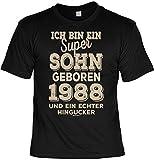 Cooles T-Shirt zum 31. Geburtstag T-Shirt Ich Bin EIN super Sohn geboren 1988 Geschenk zum 31 Geburtstag 31 Jahre Geburtstagsgeschenk 31-jähriger