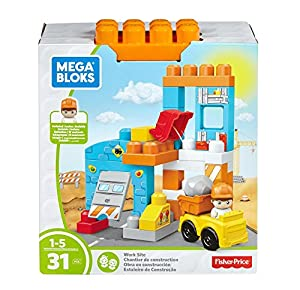 MEGA- Obra en construcción, Juego de Bloques bebé, Multicolor (Mattel FFG33)