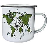 Nuevo Viaje El Arte Del Mundo Retro, lata, taza del esmalte 10oz/280ml l602e