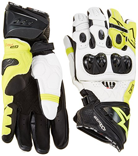 Racing Handschuhe Alpinestars GP Pro R2 Gloves , BLACK WHITE YELLOW FLUO, XL