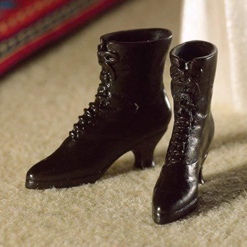 The Dolls House Emporium Schwarze Stiefel im Viktorianischen Stil (Viktorianische Stiefel)