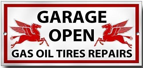Reparaturwerkstatt Öffnen Gas Öl-Reparaturen qualität-metall Garage zeichen (Vintage öl-zeichen)