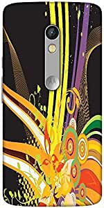 Snoogg Abstract Background Designer Protective Back Case Cover For Motorola Moto X Play