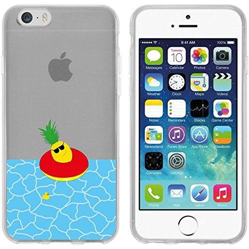 PhoneNatic Apple iPhone 6 Plus / 6s Plus Custodia in Silicone estate M3 Case iPhone 6 Plus / 6s Plus + pellicola protettiva Motif 02: Ananas