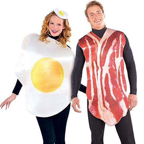 Disfraz de Huevo y disfraz de Bacon 2x1 para adultos en talla...