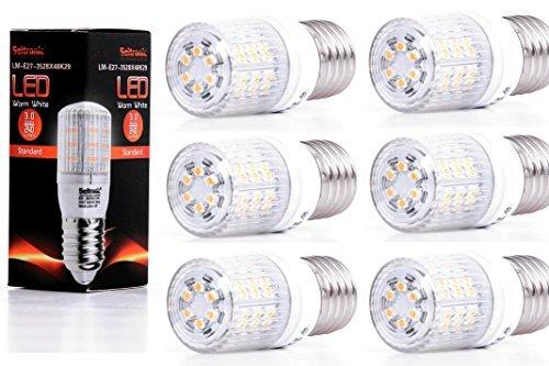 Preisvergleich Produktbild SEITRONIC 6er Set E27 LED Lampen mit 3 Watt, 240LM und 48LEDs - Warm weiß 2900K, Ersetzt 35W, Warm-Weiß - SMD LED Leuchtmittel - 160° Abstrahlwinkel [Energieklasse A+]
