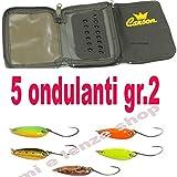 globe fishing porta artificiali astuccio per cucchiaini artificiali ondulanti pesca trota lago