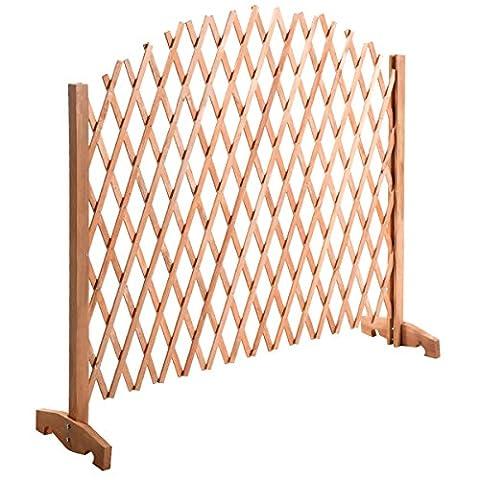 Barriere extensible en bois pour plantes et fleurs grille clôture de jardin