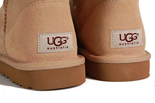 Ugg Australia Classic Mini Sand - Stivaletti bassi beige in montone Sand