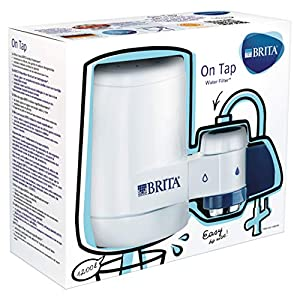BRITA On Tap – Sistema de Filtración, Agua Filtrada de Óptimo Sabor, Incluye 1 Filtro para Grifo, Color Blanco