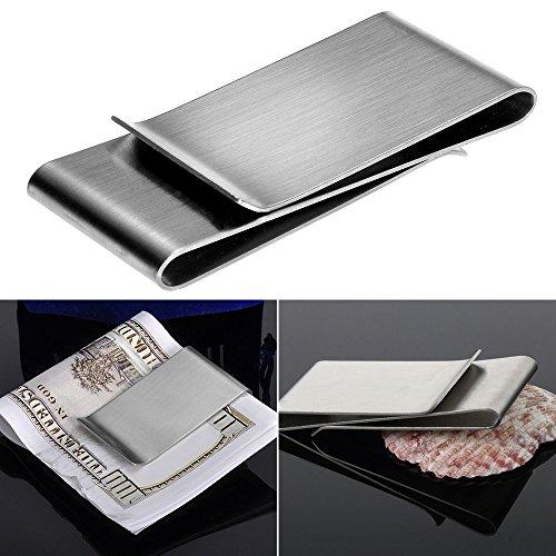 Lilyeyes Edelstahl Silber Farbe Slim Geld Clip Geldbörse Kreditkarte ID Holder