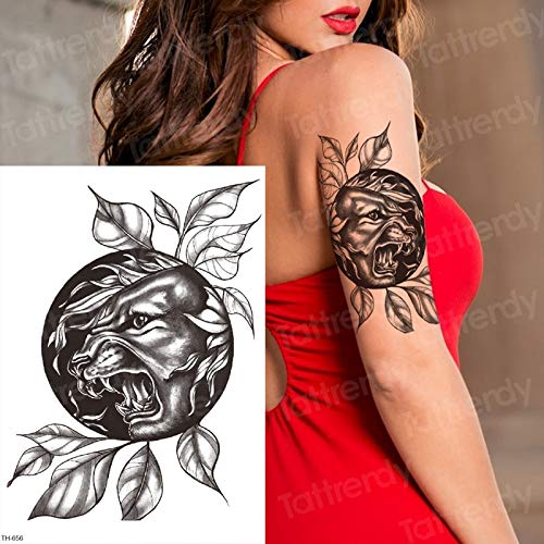 Tzxdbh disegni del tatuaggio disegni di tatuaggio della tigre nera della manica della pantera per gli uomini remover del tatuaggio sexy del tatuaggio delle donne degli uomini