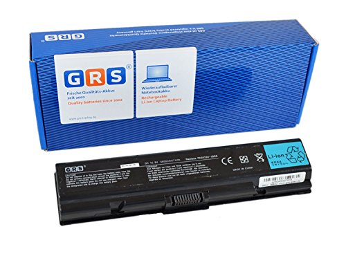 GRS Notebook Akku 6600 mAh für Toshiba Satellite A200, A205, A210, A215, A305, M200, M205, L200. ersetzt: PA3534U-1BRS, PA3535U-1BRS, PA3534U-1BAS, PABAS098, Laptop Batterie 6600mAh, 10.8V -