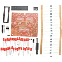 Ils - DIY 32 LED Kit de Linterna Love Heart-Shaped Red Pantalla Kit