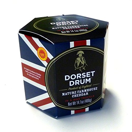 Cheddar Cheese Farmhouse 400g Dorset Drum 12 Monate gereift Cheddar Käse