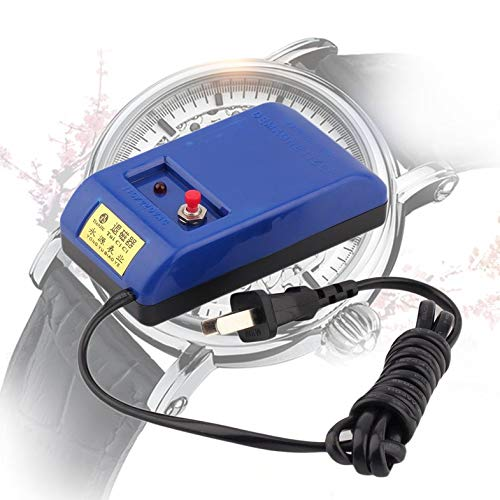 Tragbare langlebige Uhr Werkzeuge Schraubendreher und Pinzette Entmagnetisierer Elektrisch Entmagnetisieren Reparatursatz Werkzeug US-Stecker