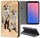 Handyhülle für Samsung Galaxy A3 2016 Premium Smart Einseitig Flipcover Flip Case Hülle Samsung A3 2016 Motiv (1430 Erdmännchen Wüste Tier Animal)