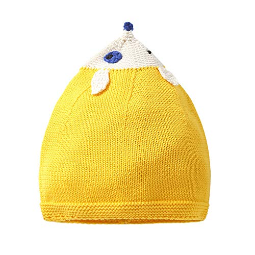 XIAXIACP Kinder Stricken Hut Elf Cartoon Baby Verdicken Warme Baumwolle Rollkragen Baby Hut,B,S -