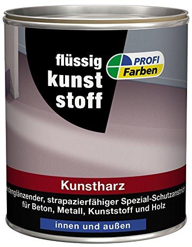 PROFI Flüssigkunststoff Kunstharz Seidenglänzend 2,5 Liter Farbwahl außen&innen, Farbe (RAL):RAL 7032 Kieselgrau