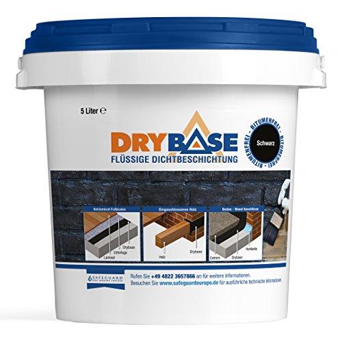 Drybase Flüssige Dichtbeschichtung, (5Liter), schwarz, DPM Feuchtigkeitsschutz
