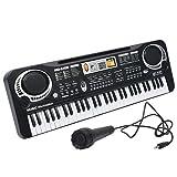 YTBLF Kinder 61-Taste Mit Mikrofon Tastatur Simulation Instrument Musik Klavier Spielzeug Geschenk