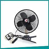 WanJiaMen'Shop Windy Ventilateur à 4 pales de 8 pouces pour véhicules Ventilateur à encastrer en métal Ventilateur de voiture Ventilateur de refroidissement pour voiture d'été, 12V