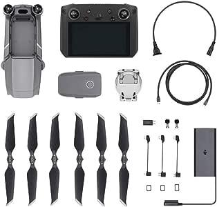 "DJI Mavic 2 Pro Drohne + Smart-Fernsteuerung - Drohne mit Hasselblad L1D-20c Kamera, Video 4K HDR 10 bits, 20 MP 1"" CMOS-Sensor - Fernsteuerung mit eingebaute 5,5 Ultra-Brillant Bildschirm 1080p"