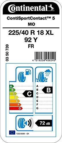 Continental-ContiSportContact-5-22540R18-92Y-CB72-Pneumatico-Estivos
