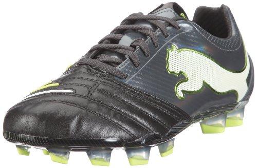 Puma Herren PowerCat 1.12 FG Sportschuhe-Fußball, Schwarz (Black-Dark Shadow-White-Lime Punch 02) 44 EU -