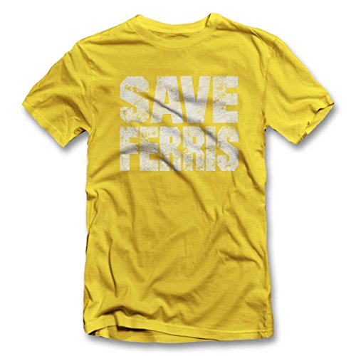 Save Ferris T-Shirt S-XXL 12 Farben / Colours Gelb
