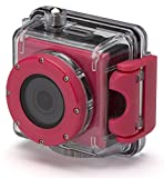Kitvision Splash Action Camera, Resistente all'Acqua, Full HD 1080p, Accessori di Montaggio e Custodia Waterproof per Immersioni, Rosa