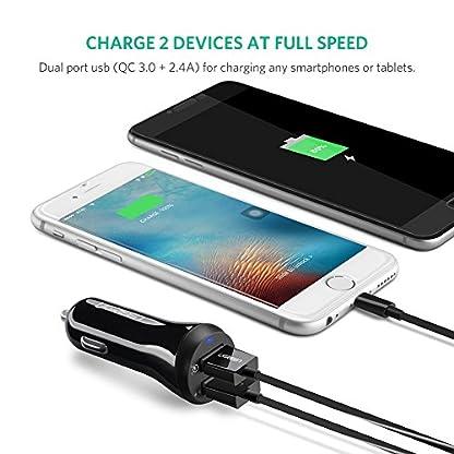UGREEN-30W-Auto-Schnellladegert-2-Port-Auto-USB-Ladegert-Quick-Charge-30-Auto-USB-Steckdose-kompatibel-mit-Samsung-Galaxy-S9Note9S8-Sony-Xperia-XZ3-Huawei-P9-iPhone-XSXrX8-Navigation-usw