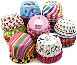 Inditradition Paper Muffin Cup Moulds, Cupcake Liners | Nonstick, Multicolor (Pack of 100 Cup)