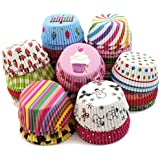 Inditradition Parchment Paper Baking Cups, Cupcake Liners | Nonstick, Multi-Color (Pack of 100 Cup)
