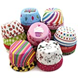#10: Inditradition Paper Muffin Cup Moulds, Cupcake Liners | Nonstick, Multicolor (Pack of 100 Cup)