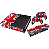 Xbox One Protective Vinly Skin Sticker Consola Decal Pegatinas + 2 Controlador & Kinect Skins Set (Flags UK Painted)