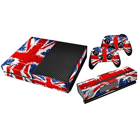 Xbox One Protective Vinly Skin Sticker Consola Decal Pegatinas + 2 Controlador & Kinect Skins Set (Flags UK