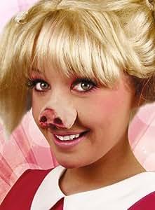 Nez de cochon en latex pour déguisement de Peggy la Cochonne