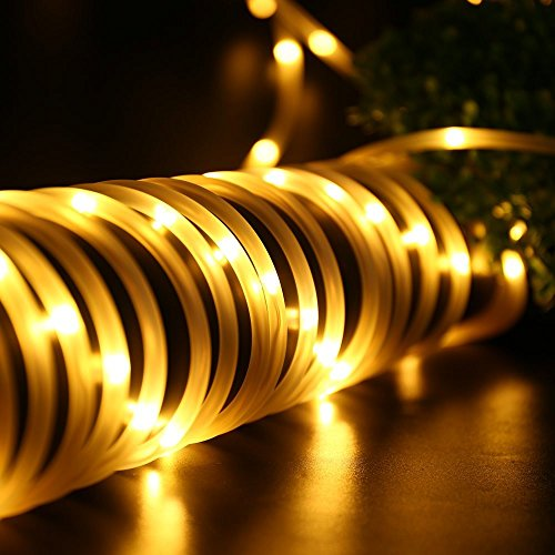 guirlande lectrique tube imperm able guirlande lumineuses no l 10m lumineux ext rieur 136 led. Black Bedroom Furniture Sets. Home Design Ideas
