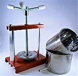 Pressa per formaggio / Pressafrutta 4,3L - Cestello e Contenitore in Acciaio Inox - Fatto in Italia