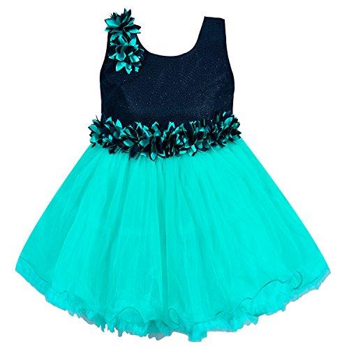 Wish Karo Baby Girls Party Wear Frock Dress DN (fe1005blu, 6-12 Months)