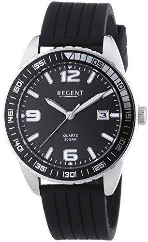 Regent KIENZLE 11110664 - Orologio da polso da uomo, cinturino in silicone colore nero