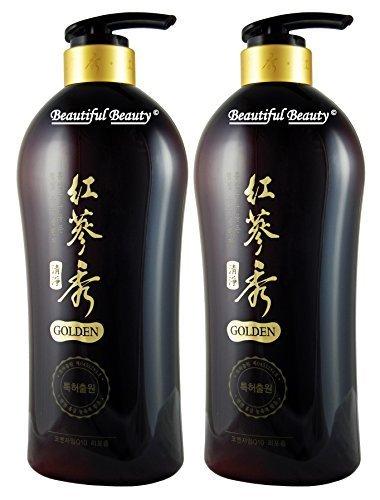 Somang Korean Red Ginseng & Herbal Scalp Cleanser Shampoo Set 730ml x 2