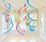 amscan 67055-90-55 Swirl Deco Plastica Multicolor 56 Cm